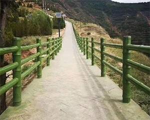 景区仿木护栏